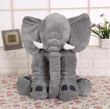 Large Baby Kids Toddler Stuffed Elephant Plush Pillow/Gray color animal toy/customized elephant plush toy