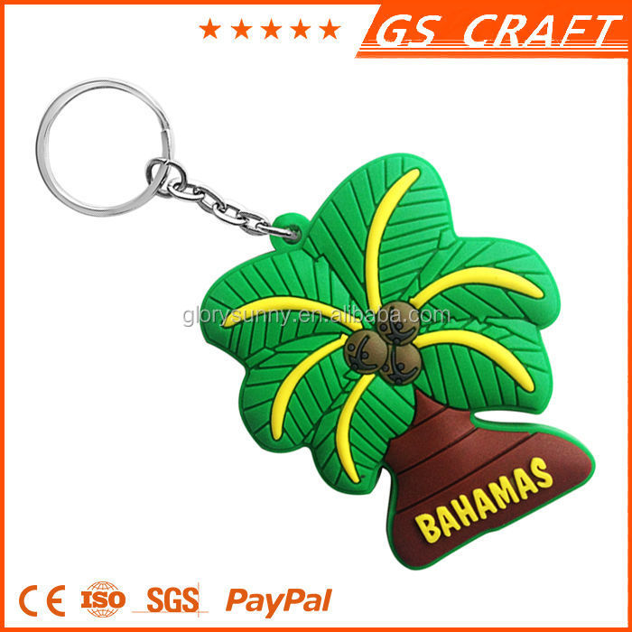 Soft PVC Rubber custom keyring, Wholesale the cheapest 3d keyring