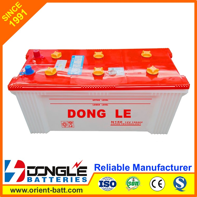 N150 DONG LE High Quality dry cell battery 12v 150ah with price
