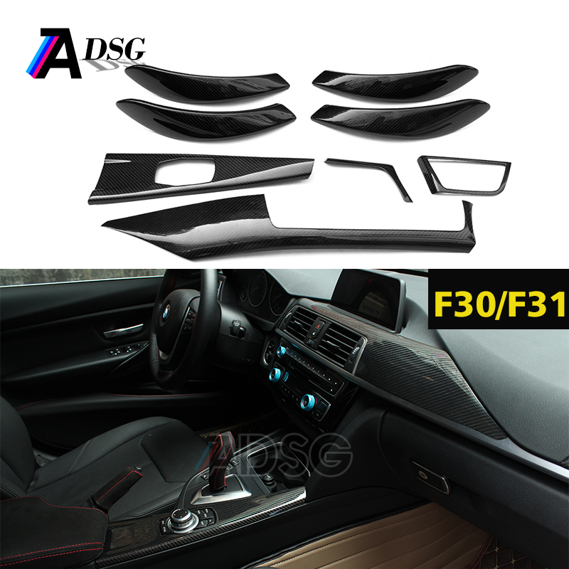 Dry carbon fiber interior trim cover for BMW 3 series F30 F35 LHD