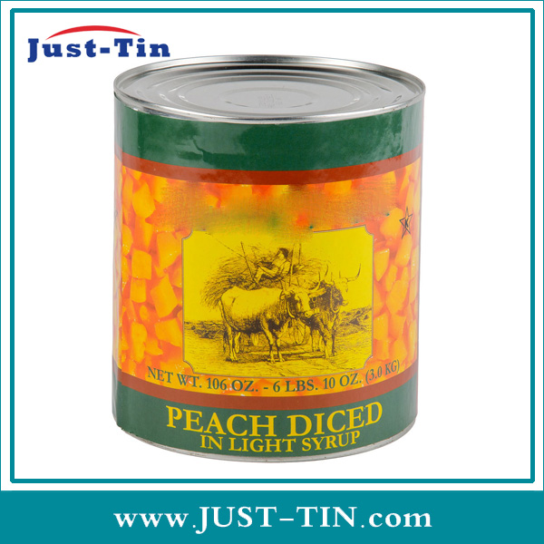 Wholesale Organic Canned Fruit Sliced Yellow Peach