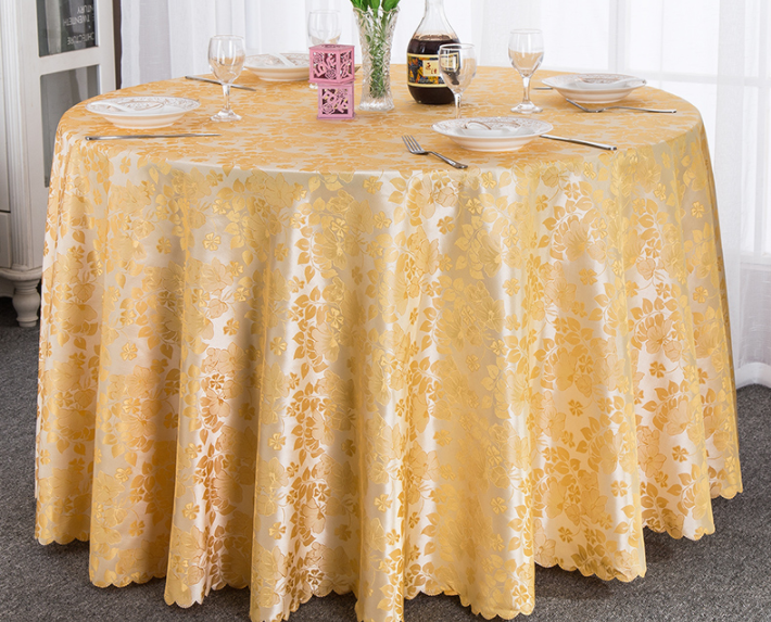 Leaf Pattern Wholesle Polyester Round Table Cloth