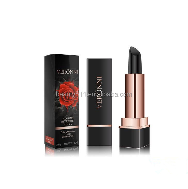 OEM 3colors Long lasting Moisturizing & nourishing Black Rose Discolour Lipstick