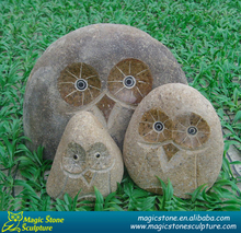 stone owl carving