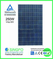 solar panel manufacturers 25 years warranty 30v solar panel 250 watt poly solar module