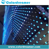 Manufacturer disco events light pixel rgb led ball dmx with 3D effect madrix