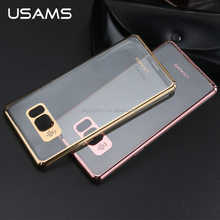 2016 Original USAMS ultra thin transparent and Laser Plating PC Back Cover Case For Samsung Galaxy Note 7