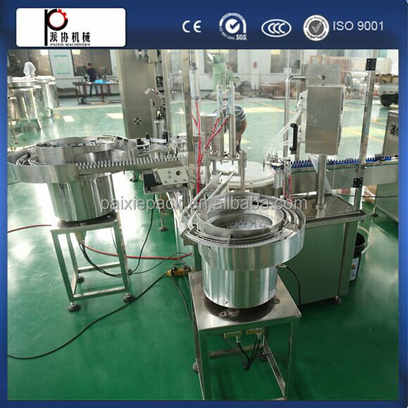 Full automatic cigareet oil small bottle e-liquid filling machine capping machine labeling machine in factory price