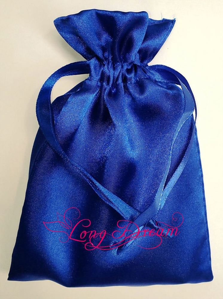 High quality plain drawstring satin jewelry packing bag