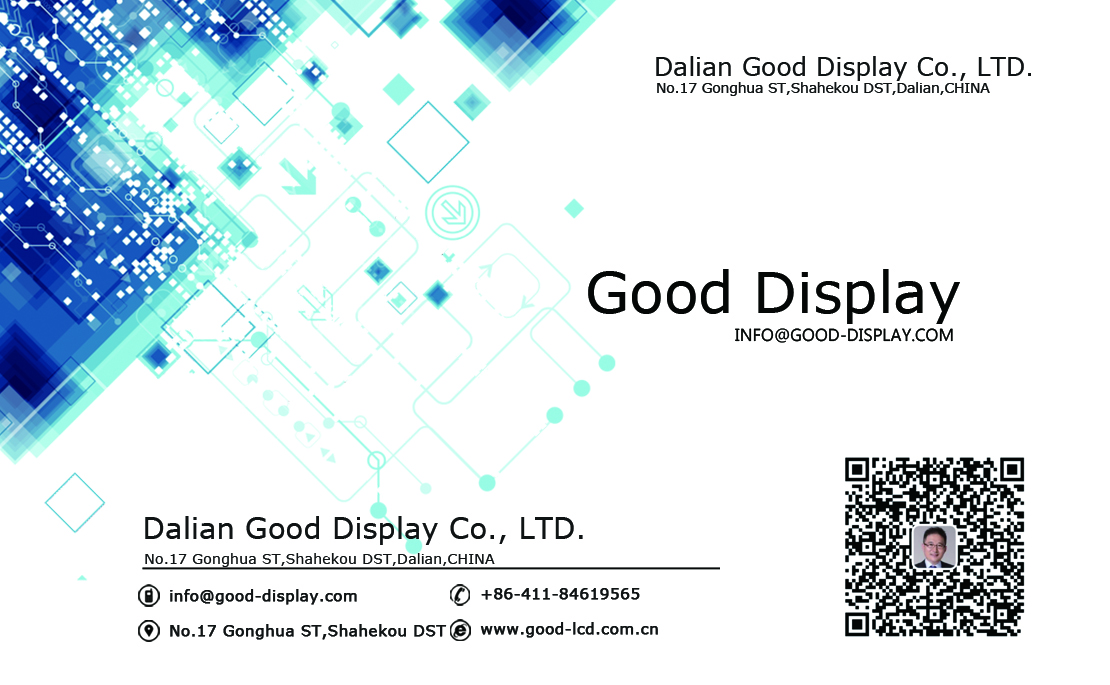 E good display color B/W/R 2.9 e-ink epaper display