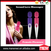 Factory price wholesale Powerful Vibrating AV Wand / Magic Wand Massager / Sex Massage vibrator