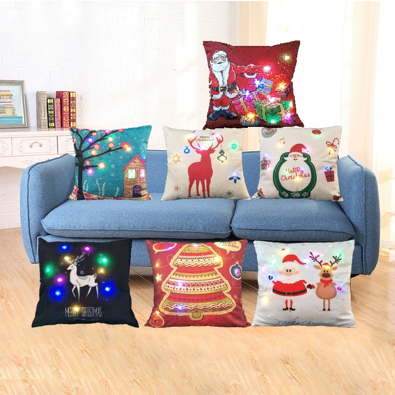 Hot sale home sofa led Light Up cushion pillow polyester