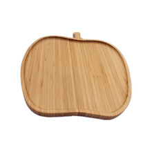 food safe apple shaped bamboo wooden plate for sale