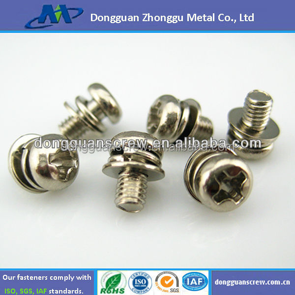 Phillips Pan Head Combined Screw Fasteners