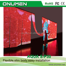 China New images led display P43 outdoor glass transparent sreen for rental,exhibitions