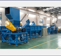 plastic PP PE film recycling washing crushing and dewatering machine