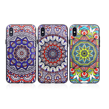 2018 New UV Custom Printed Hybrid Plastic PC TPU Flower OEM Phone Case