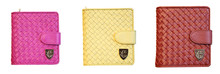 Women Woven Wallets Ladies Short Style Gradual Clutch Change Purse