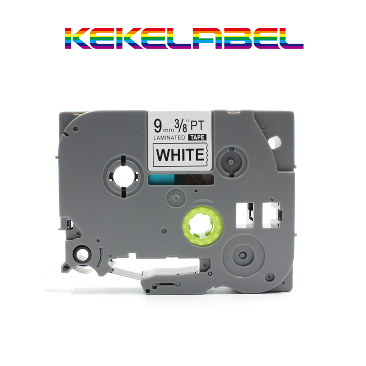 compatible brother p-touch tape tz-221 printer label tz tape TZ221 tze221 black on white 9mm