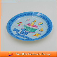 9IN round party paper plate/My first birthday birthday party paper plate