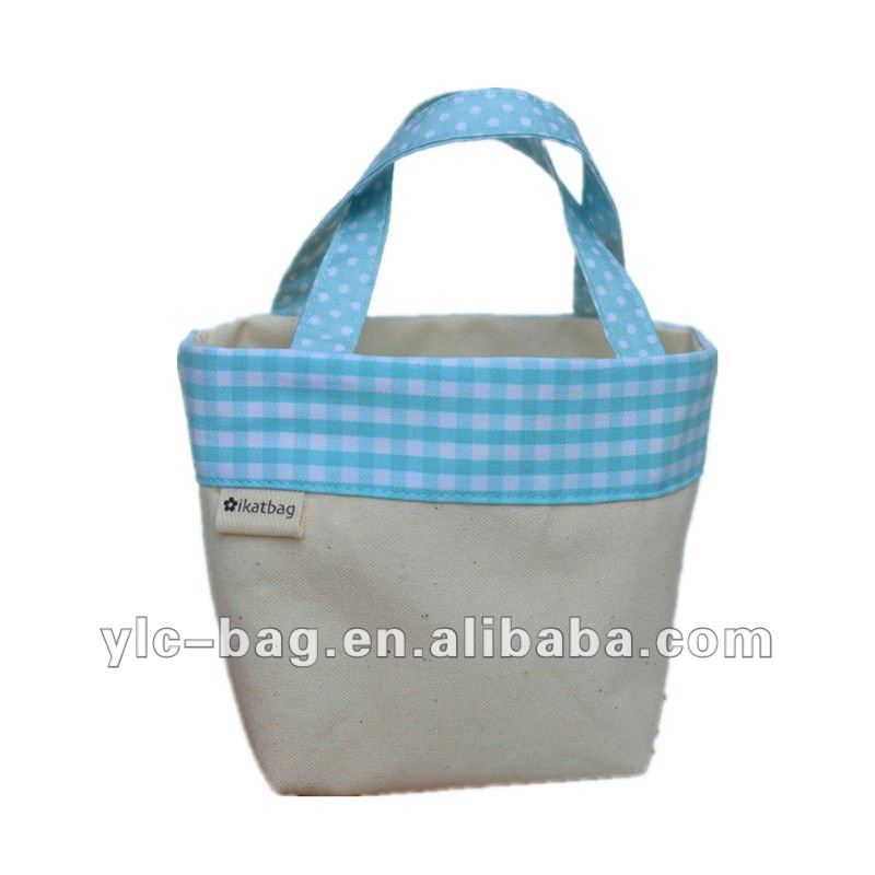Decorated white plain canvas tote bag oem/odm service