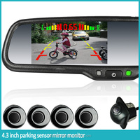 HOT SALES !!! germid rearview mirror with parking sensor , backup camera display, auto-brightness adjustment