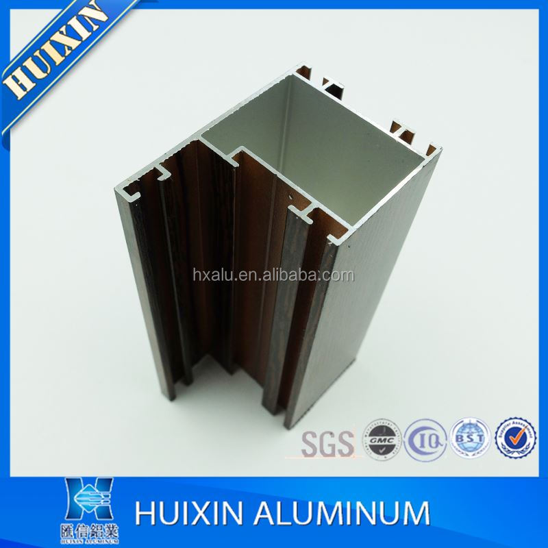 popular extrusion aluminum making window wood color
