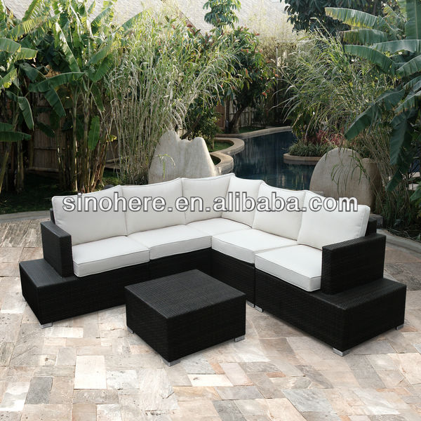Home Rattan Wicker Outdoor 6 Piece Sofa Set
