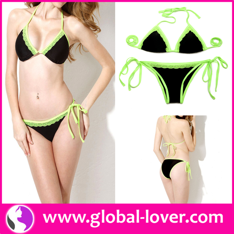 Wholesale Print Swimwear Fat Women Swim Suit High Waist Bikini
