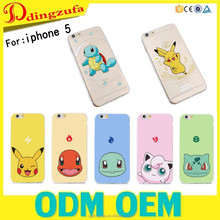 Pikachu pokemon case for iphone 5/5SE/ Painting soft TPU back cover case case