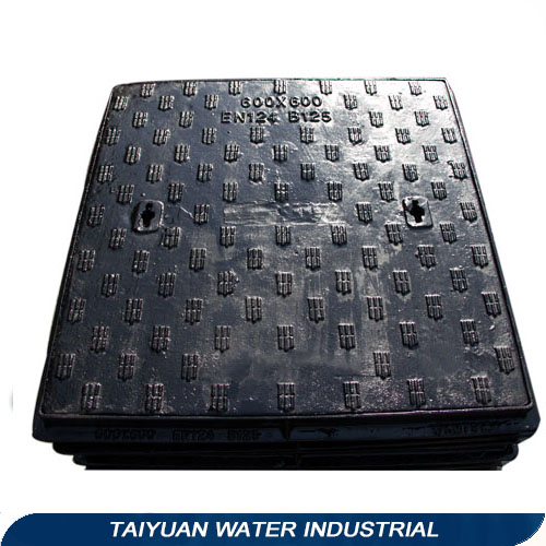 Plastic composite with frame manhole cover weight