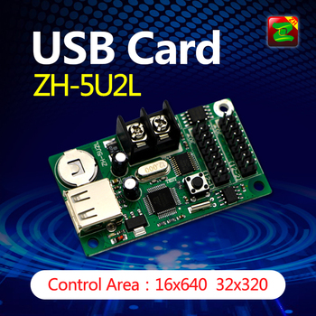 High Quality LED Screen 2 Line Indoor and Outdoor Used USB Controller Cards for Sale