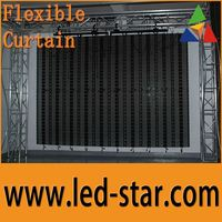 LEDSTAR Outdoor P31.25 Flexible LED Video Display Curtain screen from Hot Electronics Co., Ltd