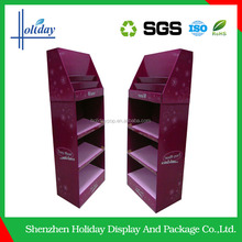 Concise design Corrugated Cardboard handbag display stand commercial acceptable price
