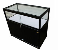 Custom mobile phone store metal & glass dipslay stand cell phone rack showcase with cabinet