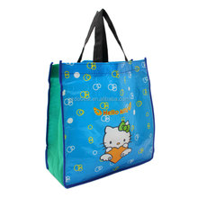single color printed pp woven shopping bag with logo