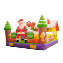 Christmas inflatable bouncer, inflatable castle,inflatable bounce house Y6010