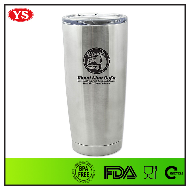 Stainless steel 20 oz double wall Vacuum Insulated Cup with spill proof lid