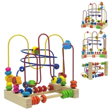 Wholesales Wooden Educational Toy Bead Maze with EN71 ASTM
