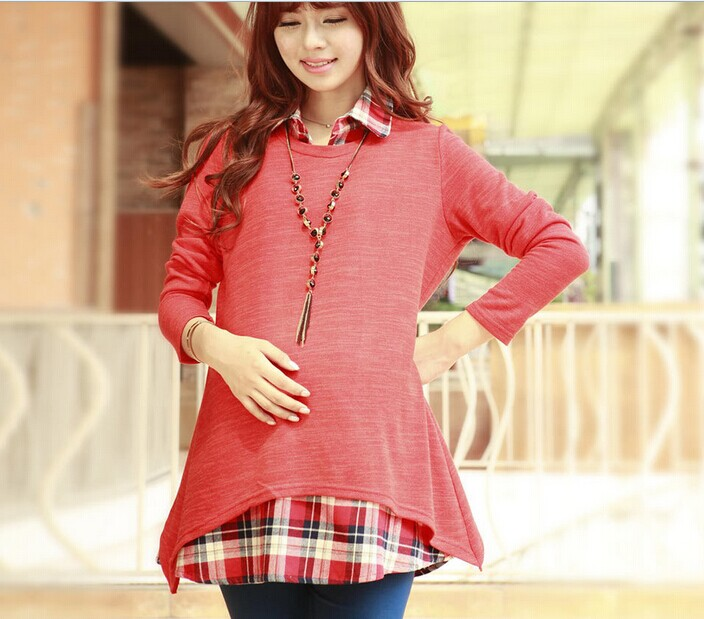 D61387T 2014 SPRING AND AUTUMN KOREAN FASHION LOOSE PREGNANT WOMEN BLOUSES