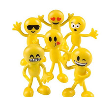 ICTI certificated custom made plastic Emoji Face Bendable toy figure