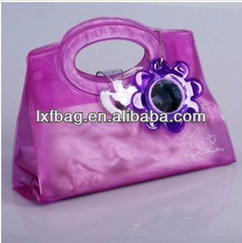 2013 new fashion pvc cosmetic bag with mirror style