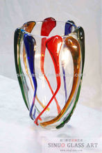 Wedding Table Decor Crystal Murano Glass Vase