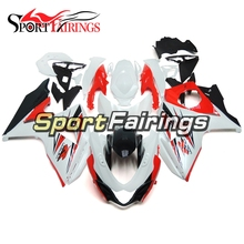 Injection Fairings For Suzuki GSXR1000 K9 09 10 11 12 13 14 ABS Injection Complete Motorcycle Fairing Kit Body White Light Red