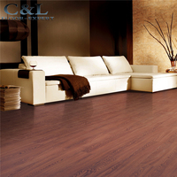 12mm thickness AC3 wood texture laminate flooring