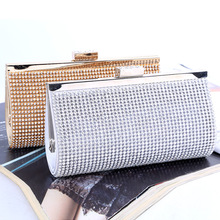 Wholesale luxury crystal evening bag shining clutch bag