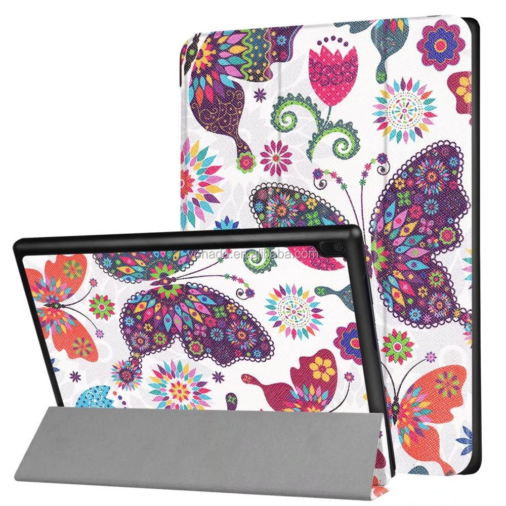 Three folding painting Slim Patterned Leather Case Cover For Lenovo Tab4 10.0 TB-X304F