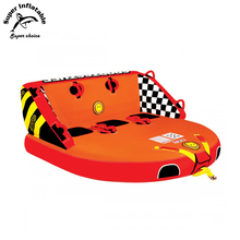 3 Person Comfortable Backrest Super Mable Water Sport Boat Ski Inflatable Towable Tube