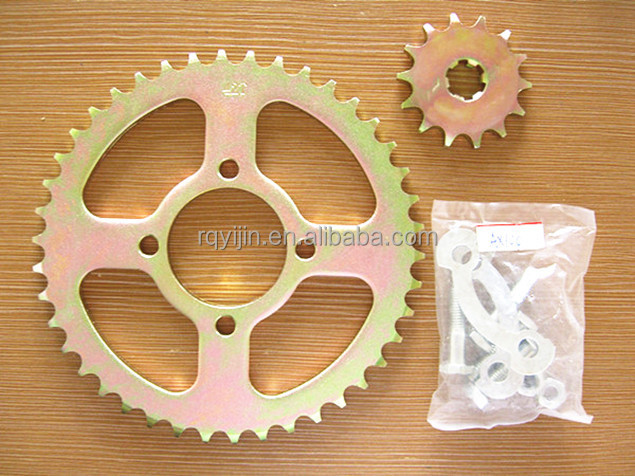 AX100 Brazil good quality motorcycle spare parts,sprockets and chains,factory price