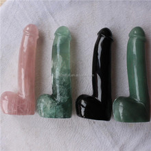 Wholesale natural quartz crystal dildo penis Hand Carved Crystal Penis